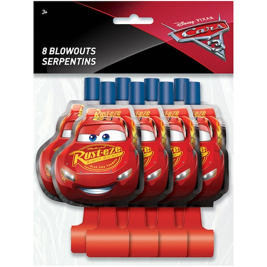 Disney® Cars Party Blowers, 8Ct   Michaels®