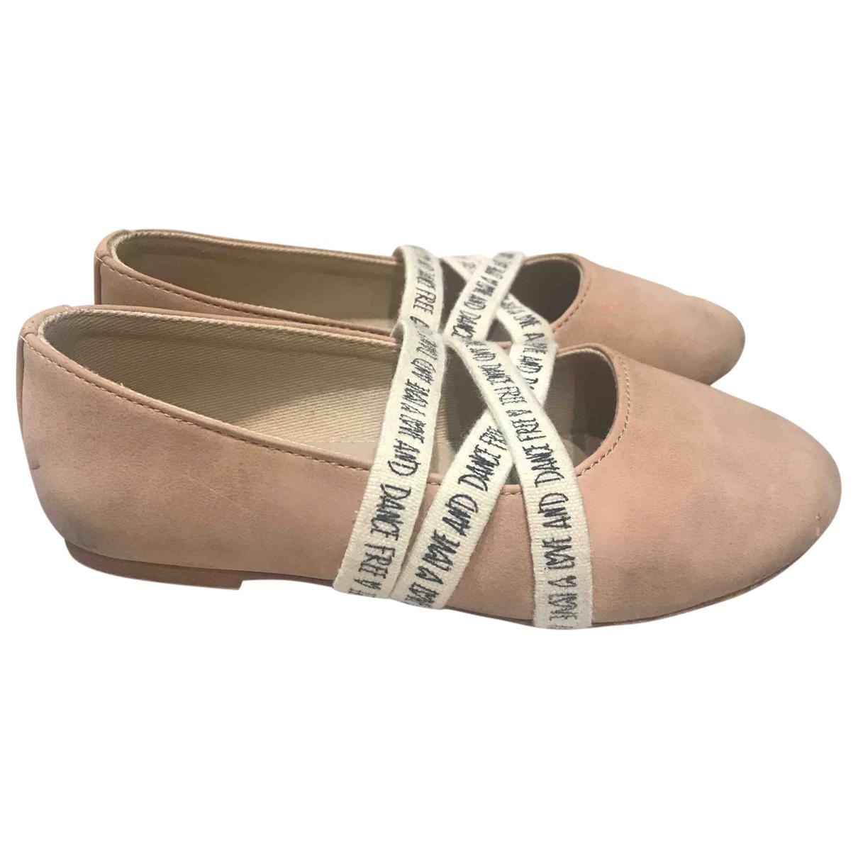 Zara N Pink Suede Ballet flats for Kids 25 FR