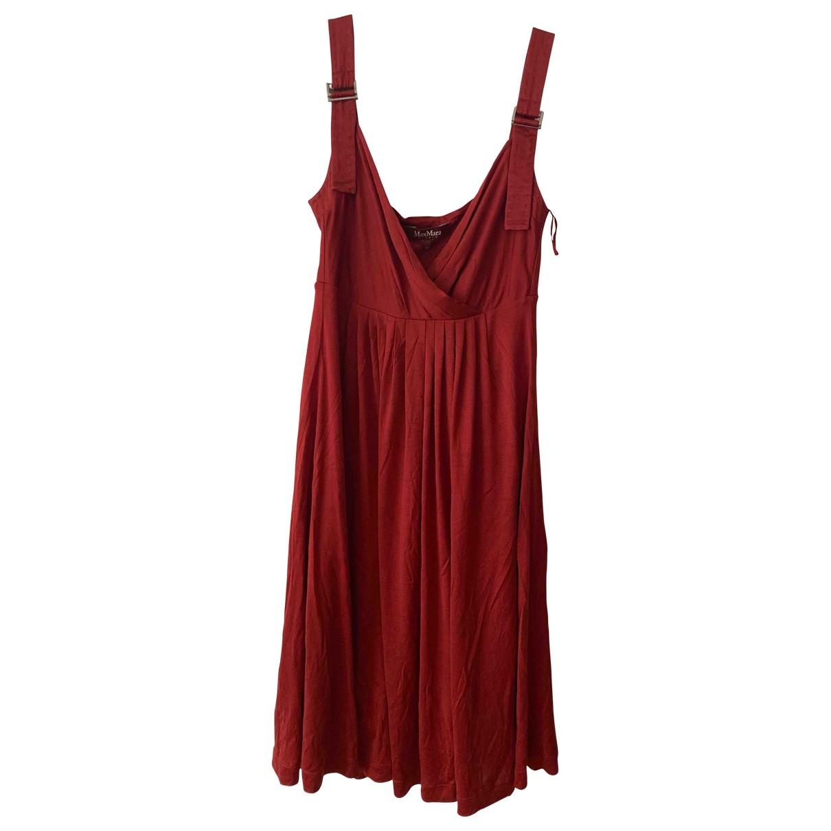 Max Mara Studio \N Red Silk dress for Women S International