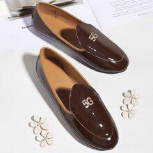 Loafers mit Strass Dekor