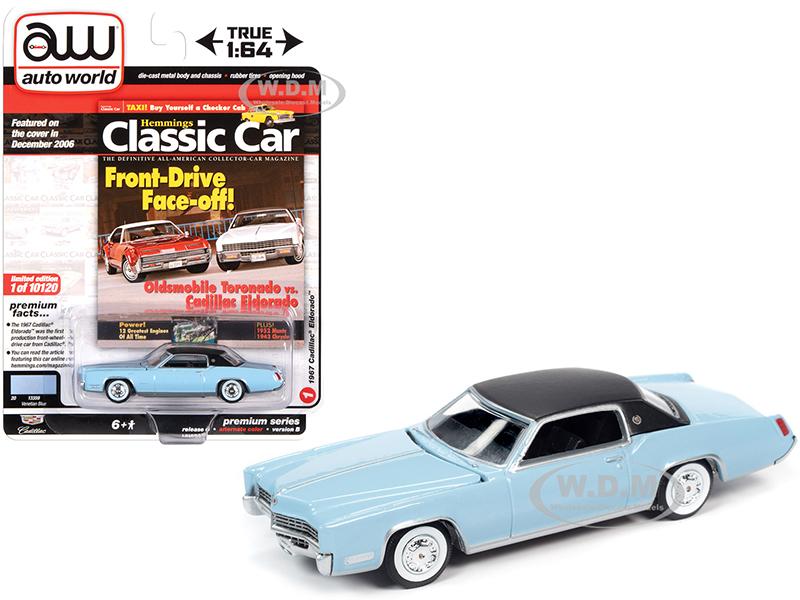 1967 Cadillac Eldorado Venetian Blue with Flat Black Vinyl Top