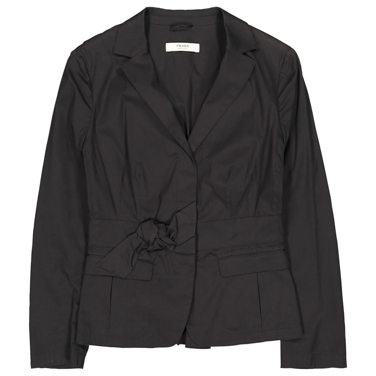 Prada - Veste   pour femme en coton - noir