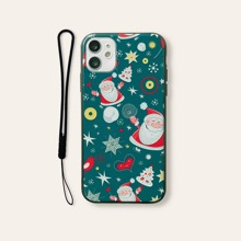 Christmas Pattern iPhone Case With Lanyard
