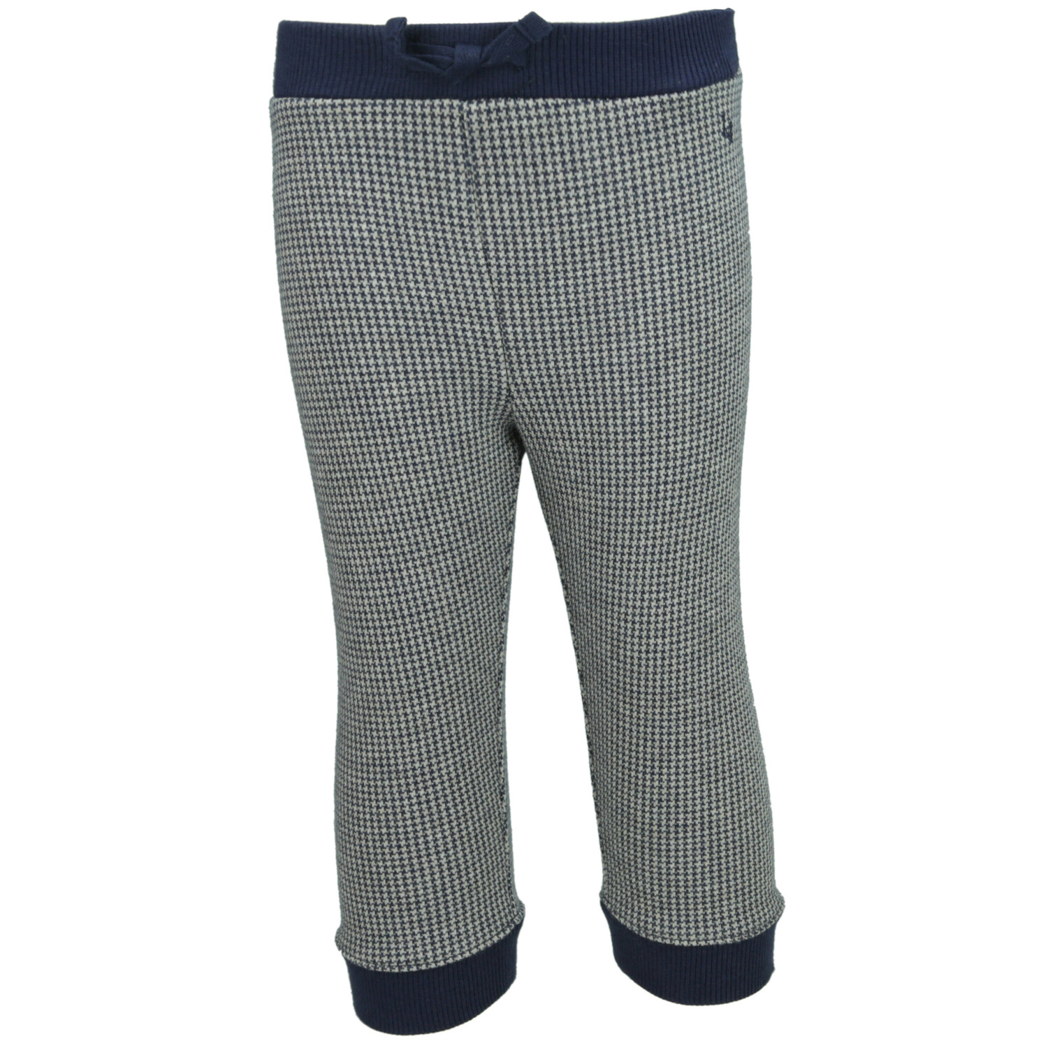 Janie And Jack Girl's Navy Herringbone Knit Jogger Athletic Bottom - 12-18 Months
