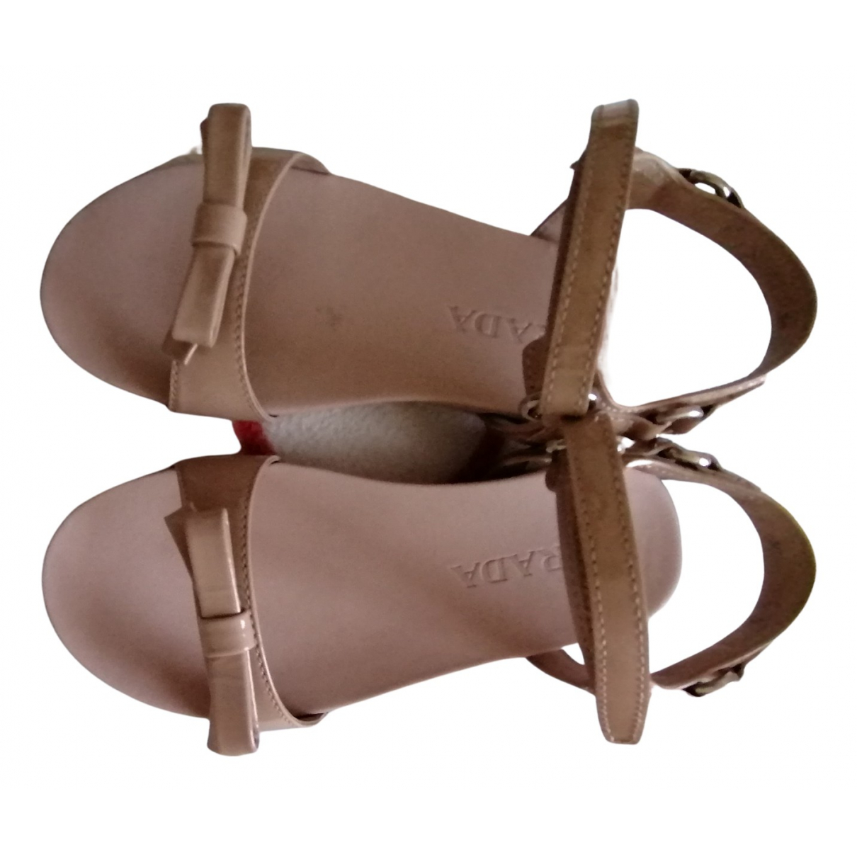 Prada N Pink Patent leather Sandals for Kids 30 FR