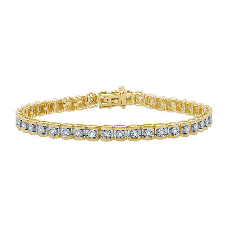 1/2 CT. T.W. Genuine Diamond 14K Gold Over Silver 7.5 Inch Tennis Bracelet, One Size , No Color Family