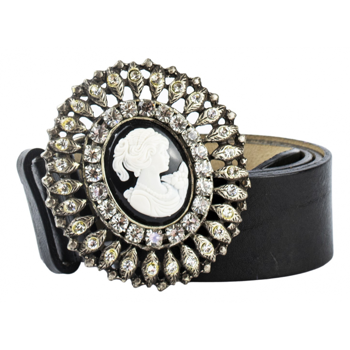 Blumarine \N Black Leather belt for Women 90 cm