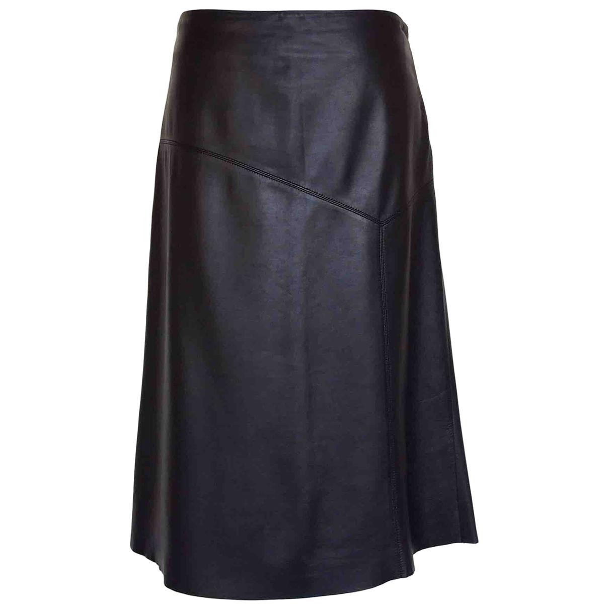 Donna Karan \N Rocke in  Schwarz Leder