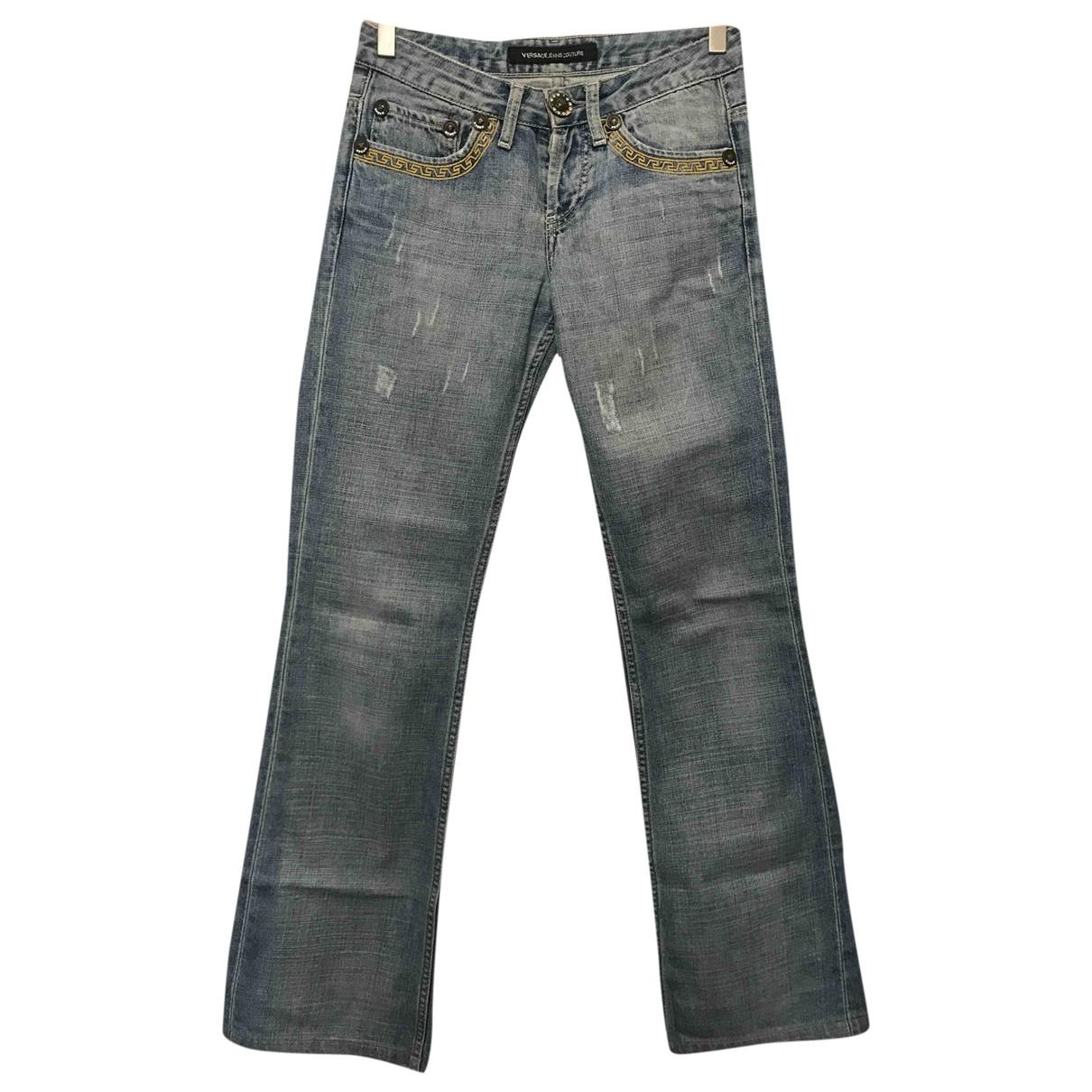 Versace Jeans \N Blue Cotton Jeans for Women 34 FR