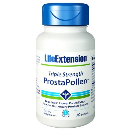 Triple Strength ProstaPollen 30 Soft Gels by Life Extension