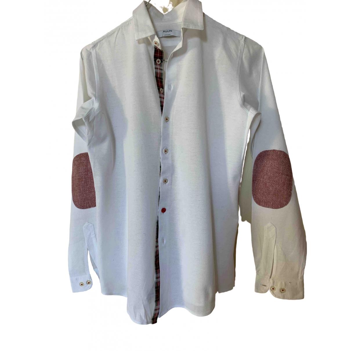 Aglini - Top   pour enfant en coton - blanc