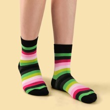 Rainbow Striped Pattern Socks