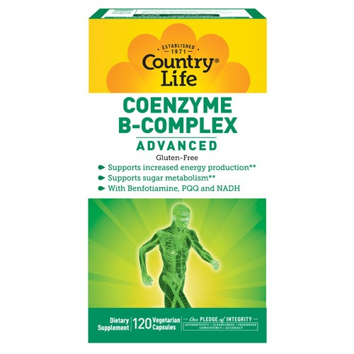 Coenzyme B Complex Advanced 120 Vcaps by Country Life