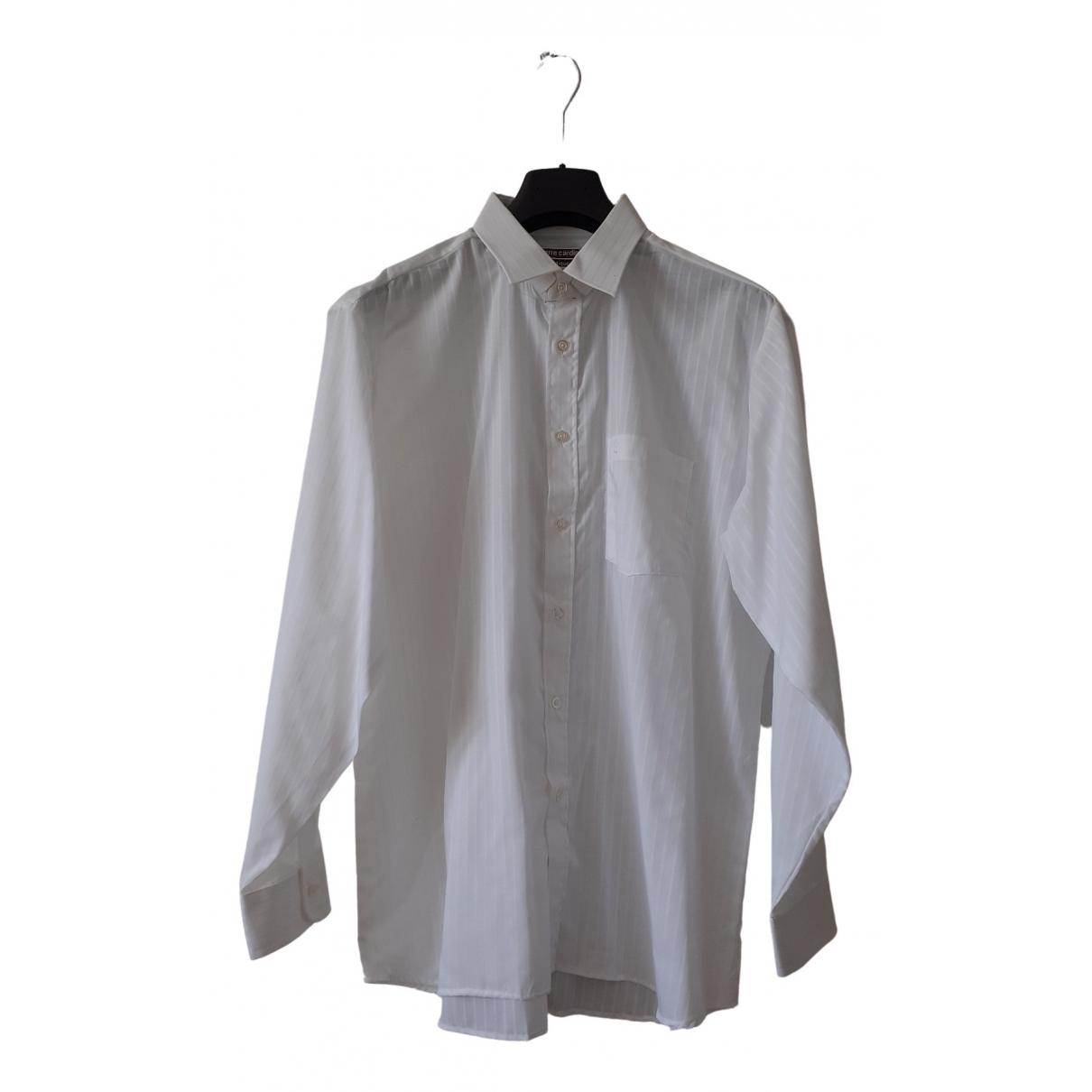 Pierre Cardin - Chemises   pour homme en coton - blanc