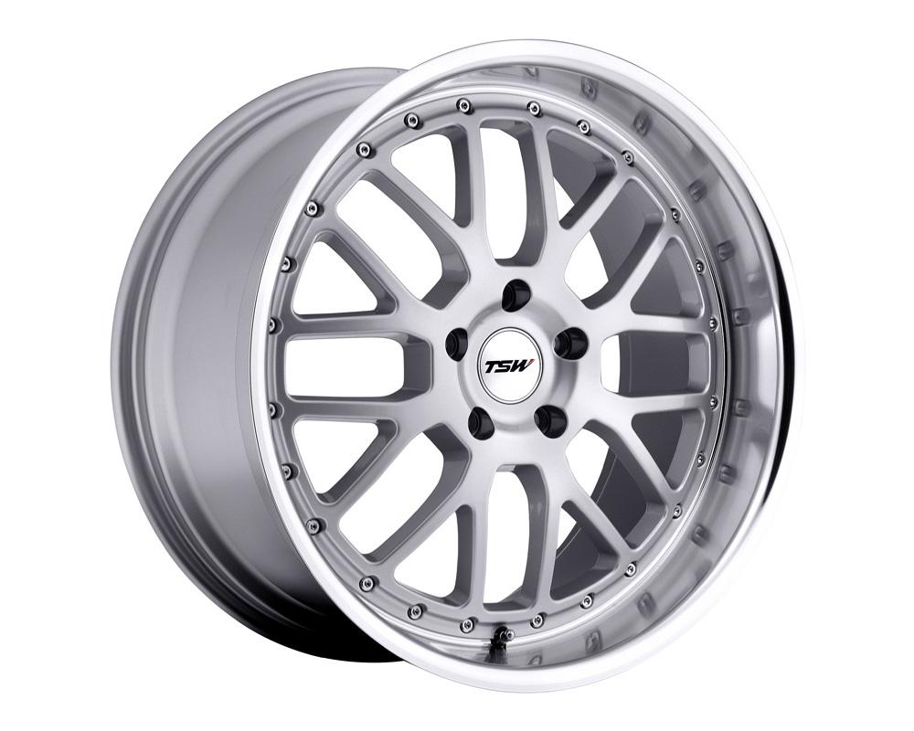 TSW Valencia Wheel 18x9.5 5x114.3 20mm Silver w/ Mirror Cut Lip