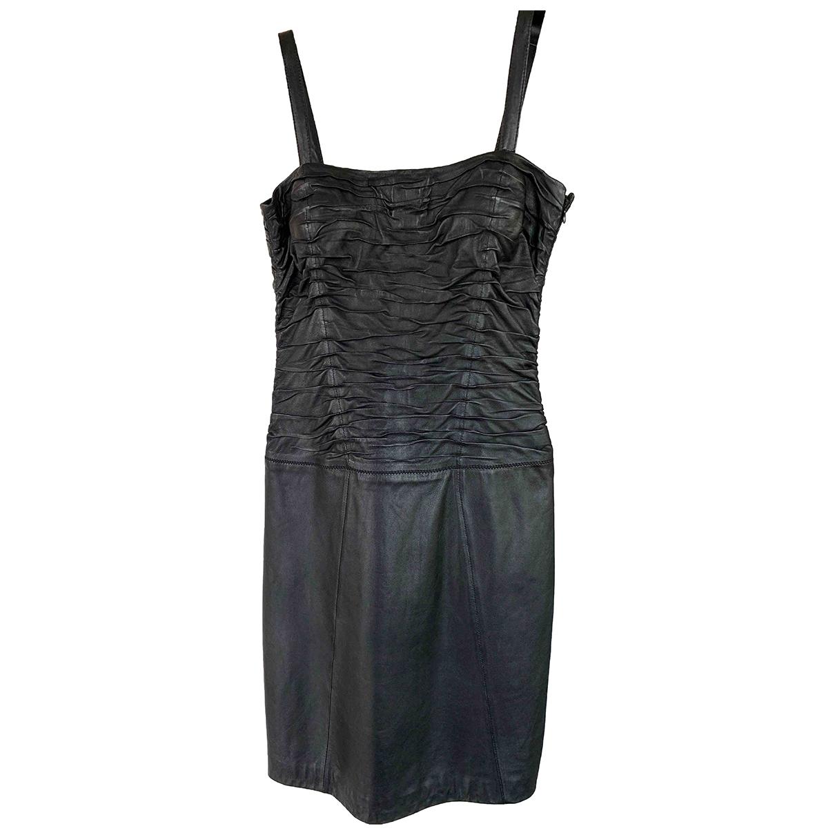 Zapa - Robe   pour femme en cuir - noir