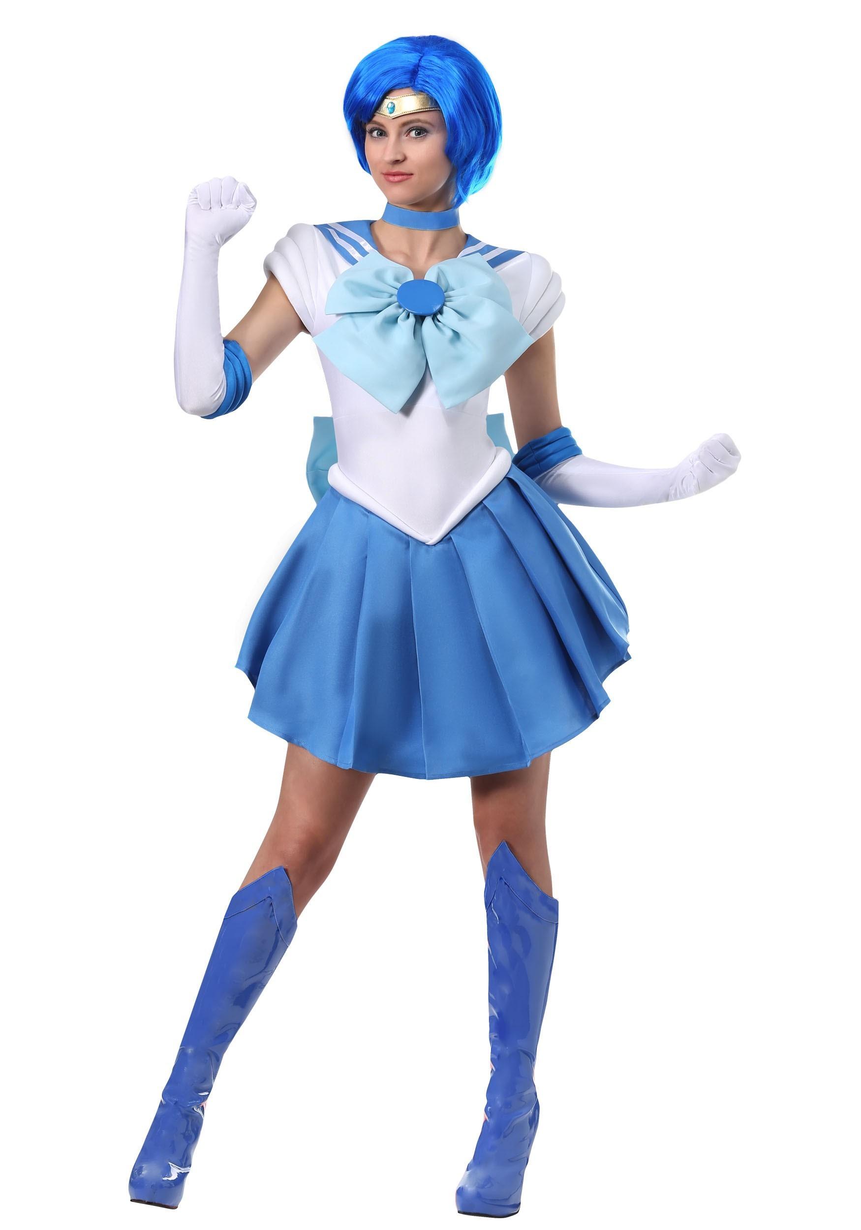 Sailor Mercury Costume for Women   Cosplay Costume for Women's