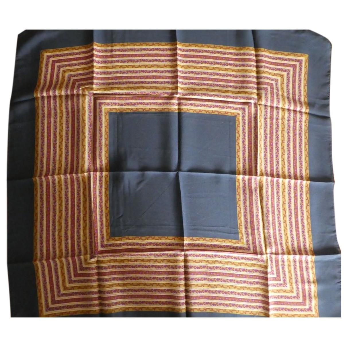 Jean Patou \N Navy Silk Silk handkerchief for Women \N