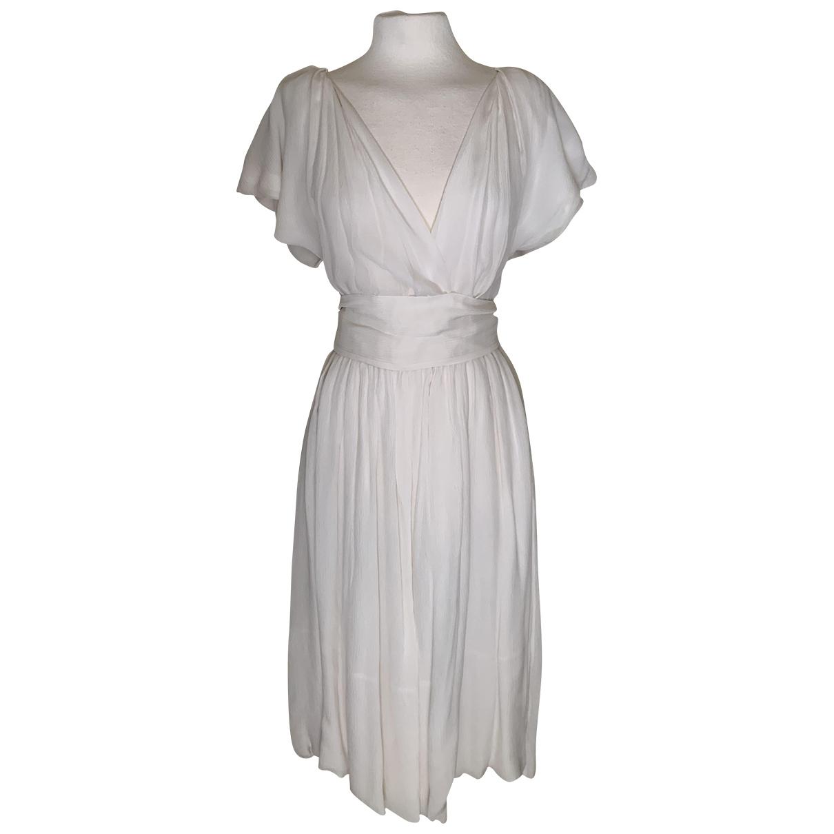Loewe \N Ecru Silk dress for Women 40 FR
