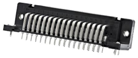 HARTING D-Sub Standard Series, 50 Way Right Angle Through Hole PCB D-sub Connector Socket, 2.76mm Pitch, with 4-40 UNC