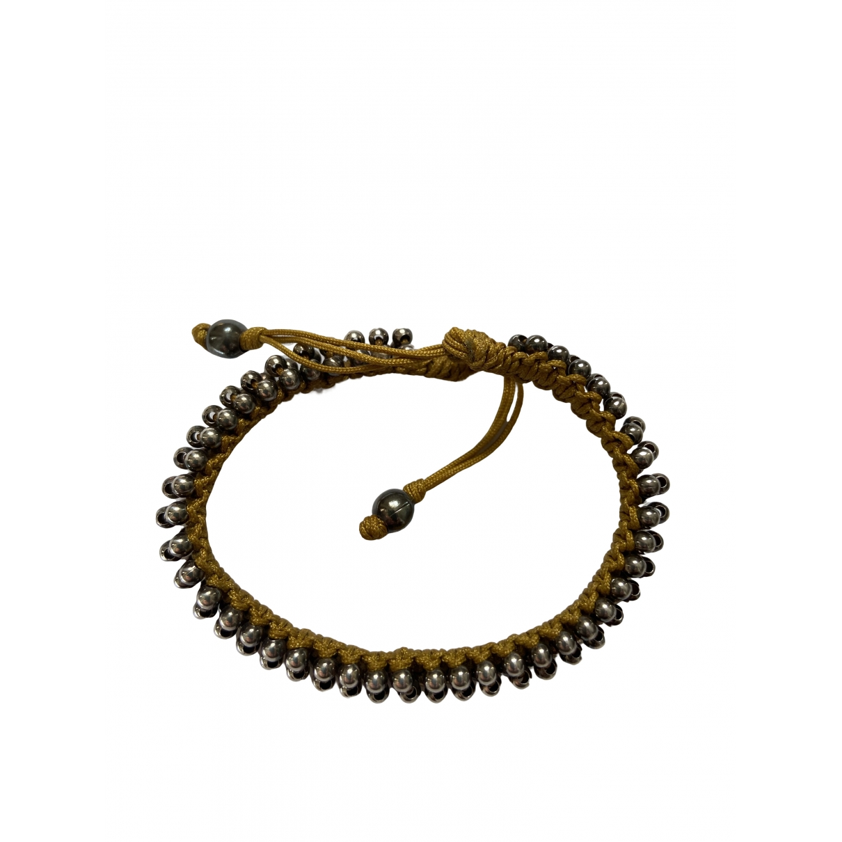 Non Signe / Unsigned Motifs Ethniques Armband in  Gold Metall