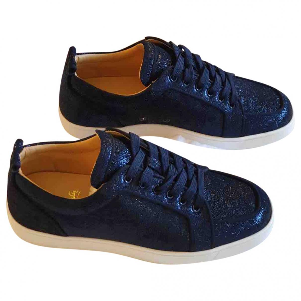 Christian Louboutin \N Sneakers in  Marine Mit Pailletten