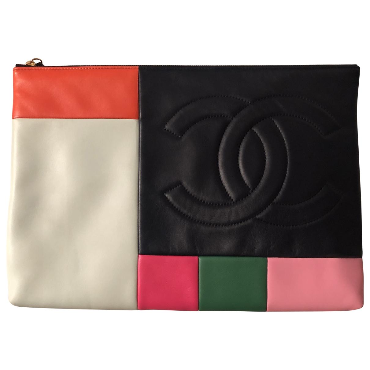Chanel - Pochette   pour femme en cuir - multicolore