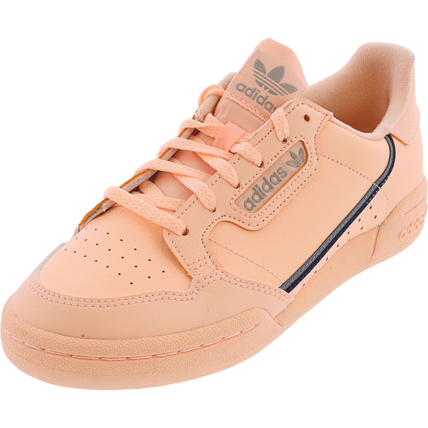 Adidas Girl's Continental 80 Clear Orange / Light Brown Ecru Tint Low Top Leather Training Shoes - 4.5M