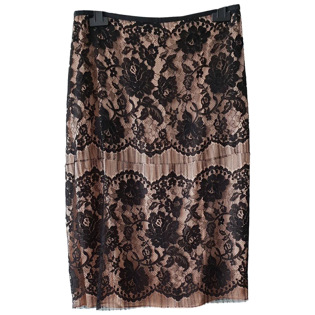 Lanvin \N Black Silk skirt for Women 38 FR