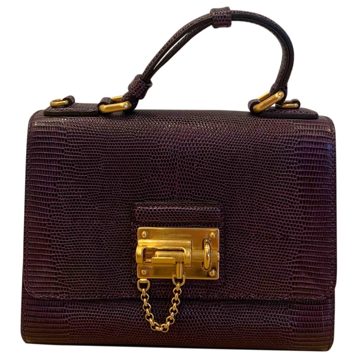 Dolce & Gabbana \N Purple Lizard handbag for Women \N