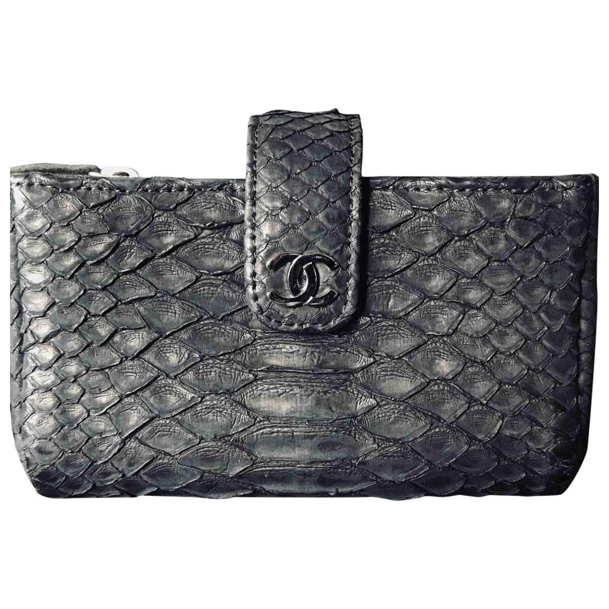 Chanel \N Black Python Purses, wallet & cases for Women \N