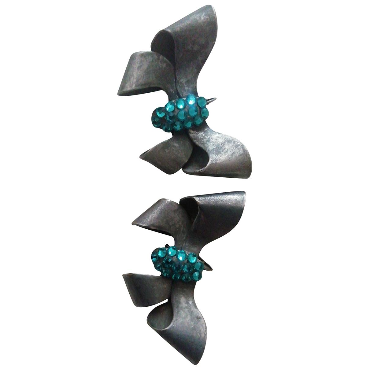 - Boucles doreilles   pour femme en metal - gris