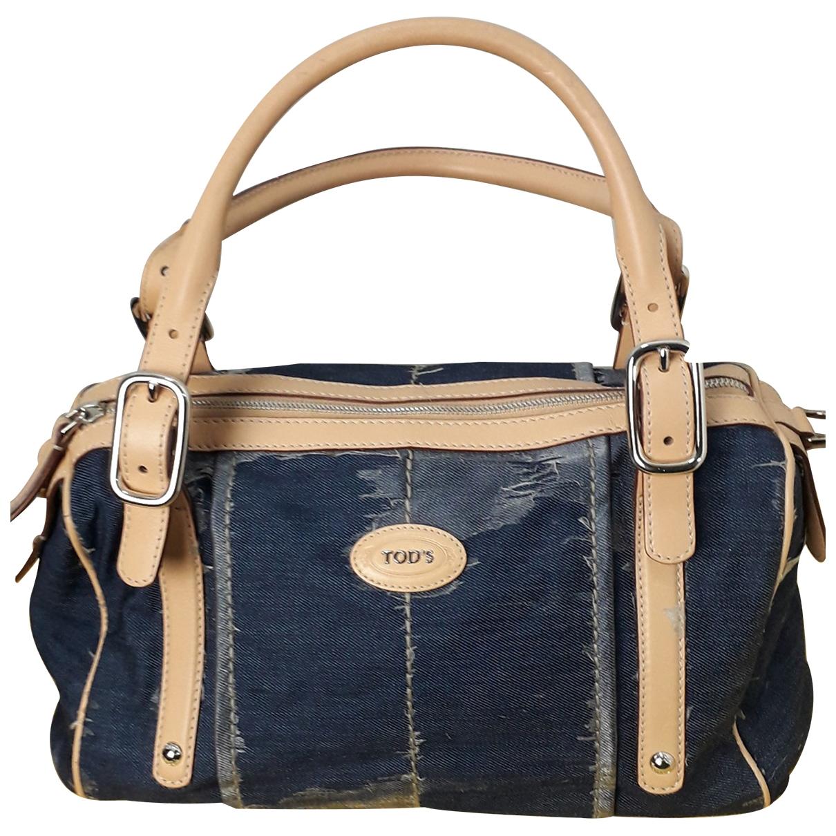Tods \N Handtasche in  Blau Denim - Jeans