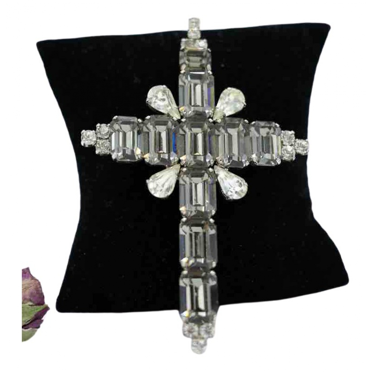 Non Signé / Unsigned Croix Silver Metal Pins & brooches for Women \N