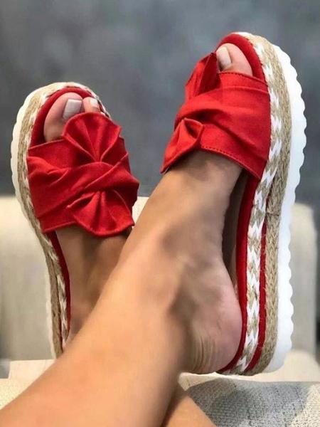 Milanoo Shoes Wedge Sandals Apricot Nubuck Plus Size Women\'s Sandals