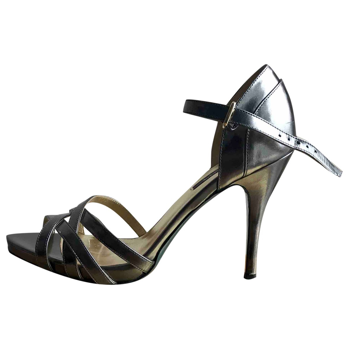 Patrizia Pepe \N Sandalen in  Metallic Lackleder