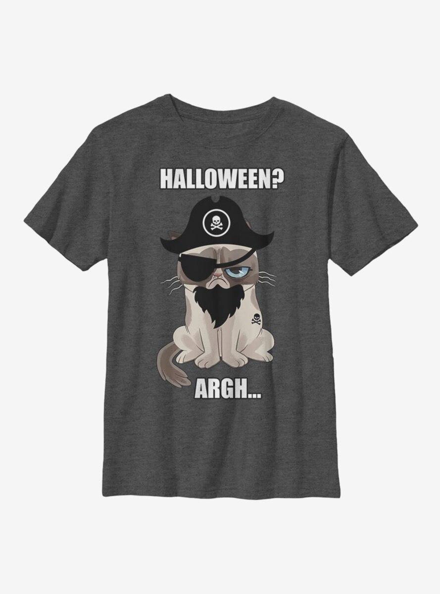 Grumpy Cat Grumpy Pirate Youth T-Shirt