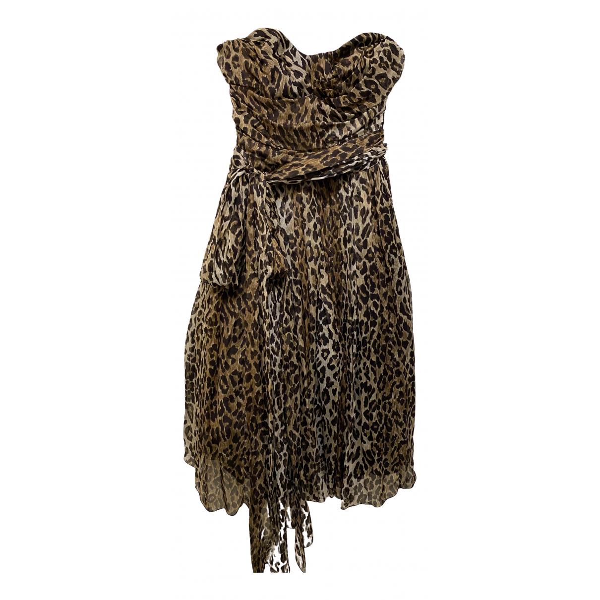 Dolce & Gabbana - Robe   pour femme en soie - beige