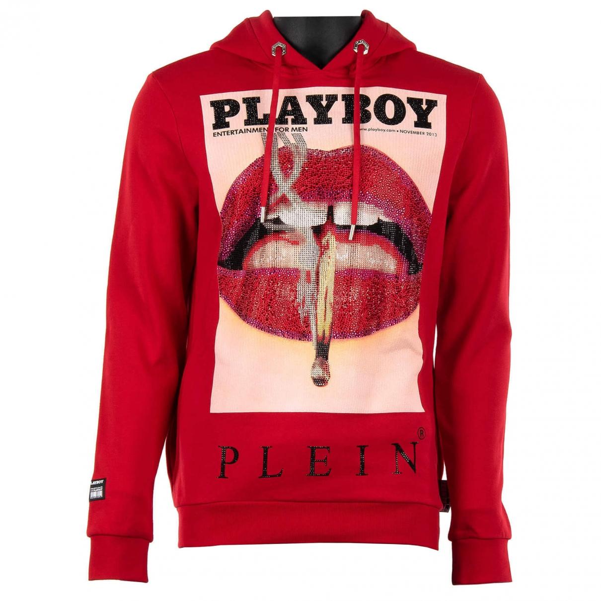 Philipp Plein \N Red Cotton Knitwear & Sweatshirts for Men L International