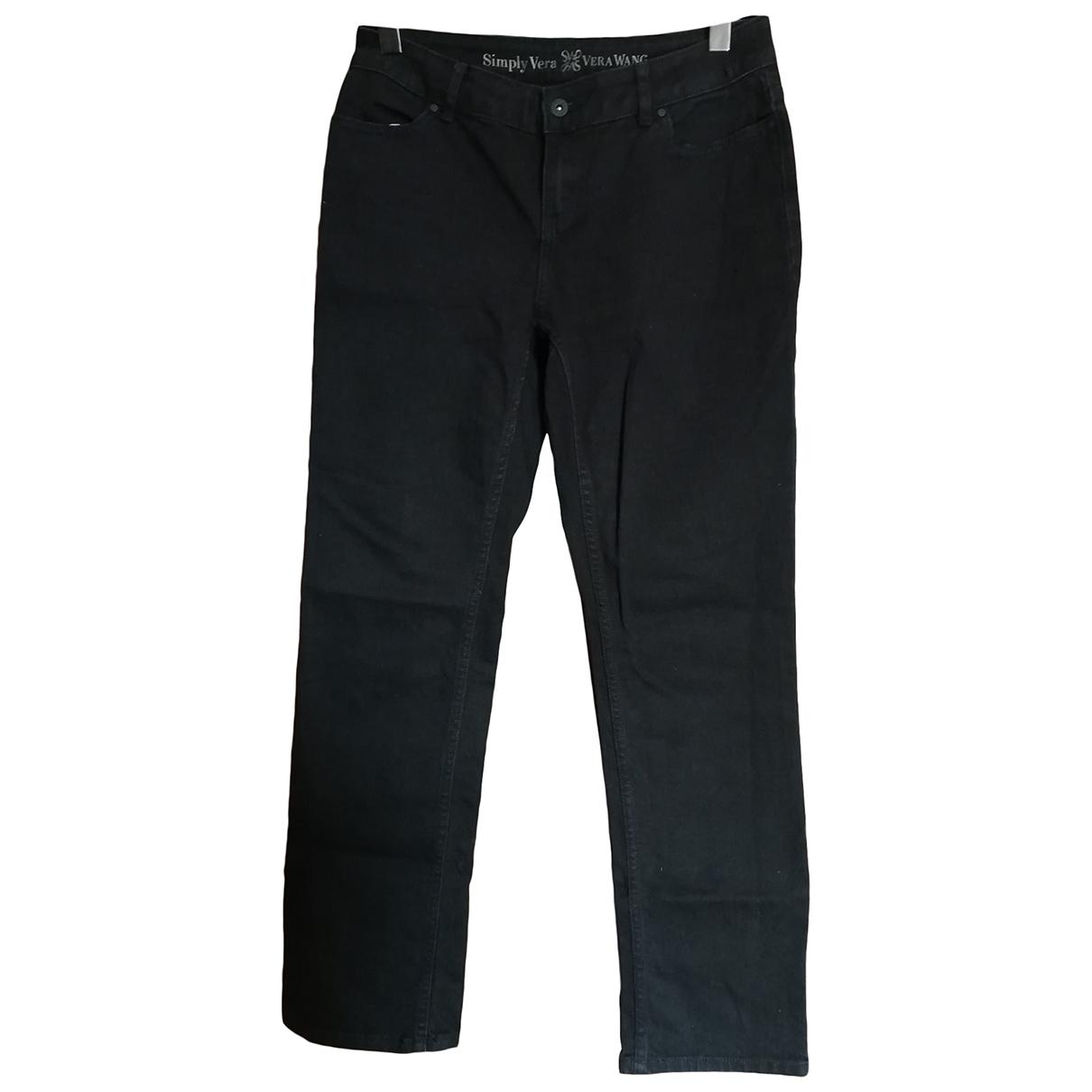 Vera Wang \N Black Cotton Jeans for Women 42 FR