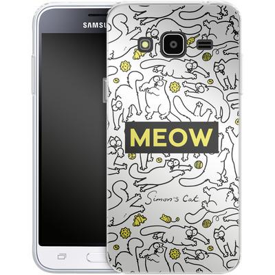Samsung Galaxy J3 (2016) Silikon Handyhuelle - Meow von Simons Cat