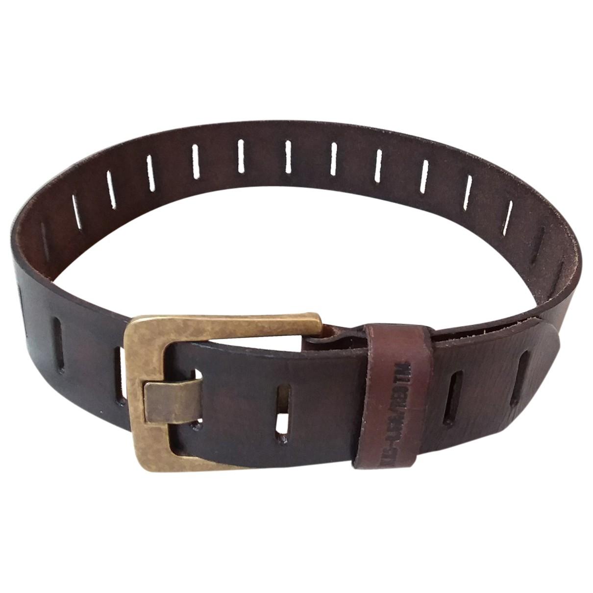Ikks \N Brown Leather belt for Women S International