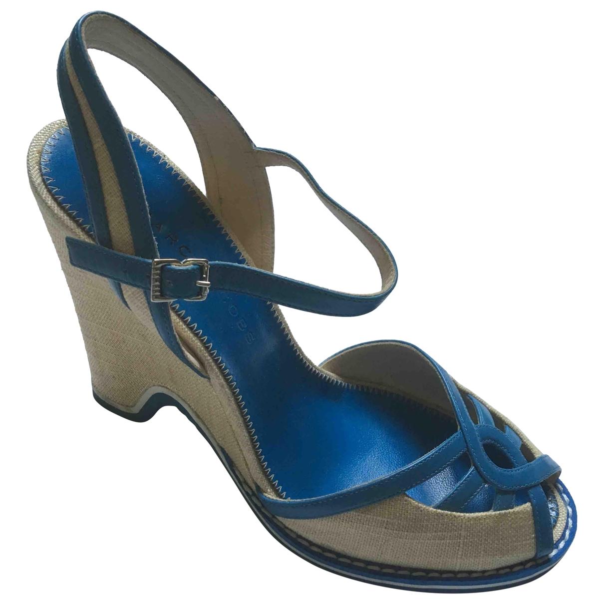 Marc Jacobs \N Sandalen in  Blau Leinen