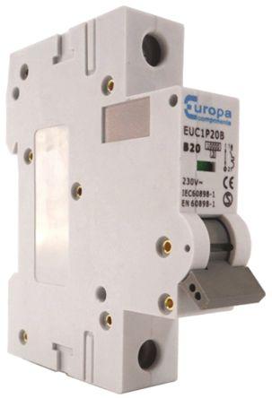 Europa EU 32 A MCB Mini Circuit Breaker, 1P Curve B