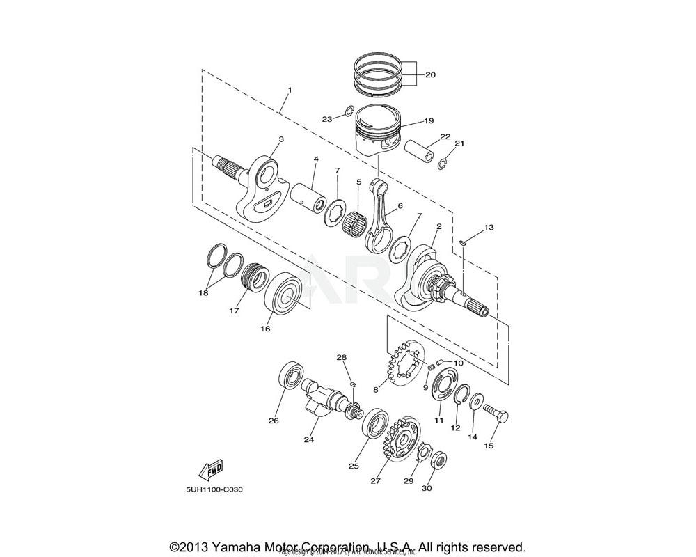 Yamaha OEM 5UH-16181-00-00 SPACER 1