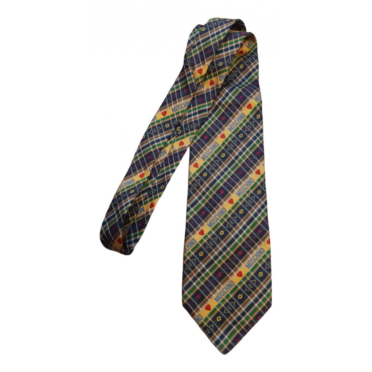 Moschino N Multicolour Silk Ties for Men N