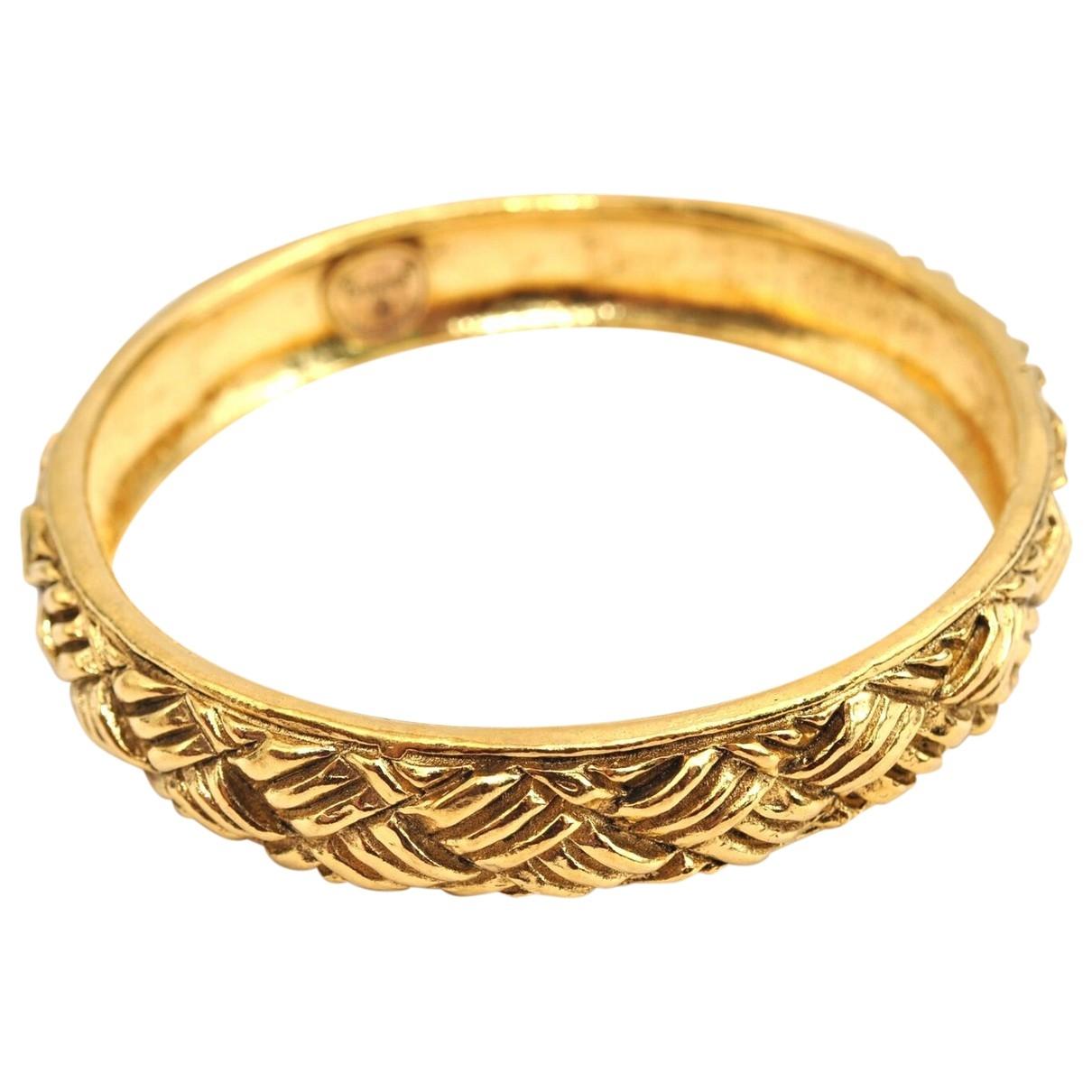 Chanel - Bracelet   pour femme en plaque or - dore