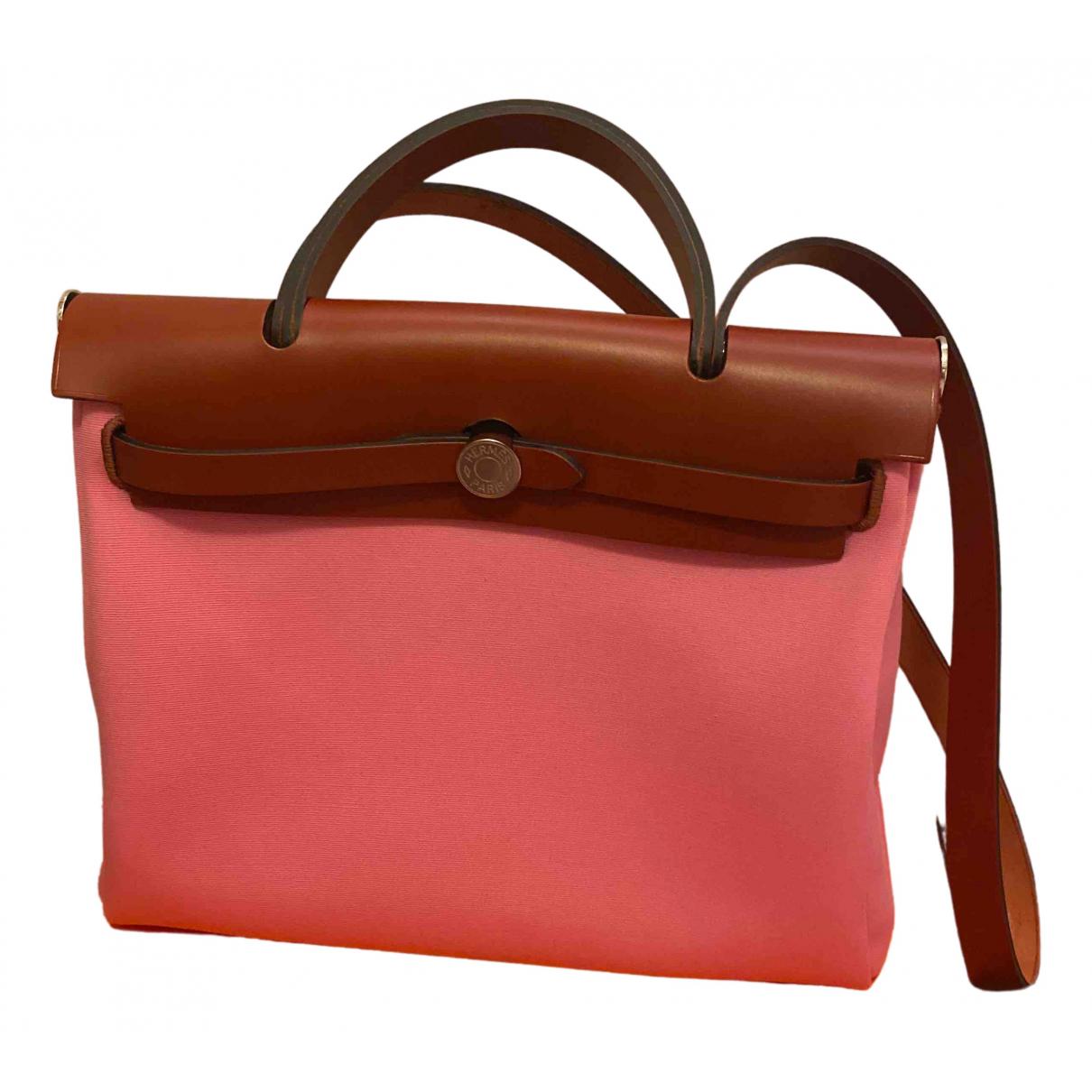 Hermès Herbag Pink Cloth handbag for Women \N