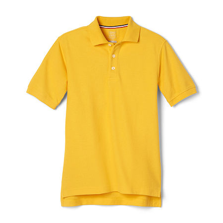 French Toast Little & Big Boys Short Sleeve Polo Shirt, X-large , Yellow