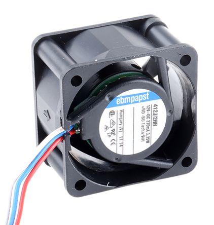 ebm-papst , 12 V dc, DC Axial Fan, 40 x 40 x 25mm, 24m³/h, 3.3W
